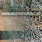 Pęknięte szkło hartowane (zawsze na całości tafli)