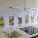 Panel szklany z grafiką szklanki