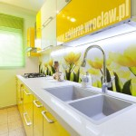 Panel szklany z grafiką żółte tulipany