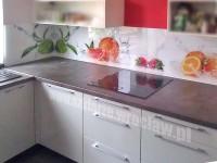 Panel szklany z grafiką owoce, pomarańcza, truskawka i limonka
