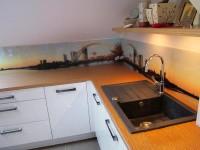 panoramiczny motyw graficzny  w kuchni