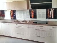ŁAdny niespotykany projekt grafiki w kuchni w postaci przepisów