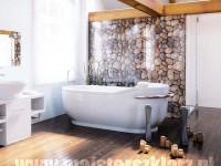 Grafika w łazience - kamnienie, piękne panele ścienne do łazienki, toalety itp