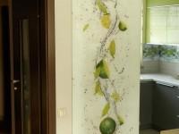 Panel szklany od podłogi do sufitu o motywie limonki na wodzie