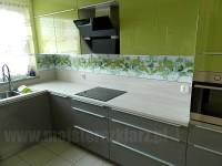 Motyw limonki w kuchni na panelach szklanych