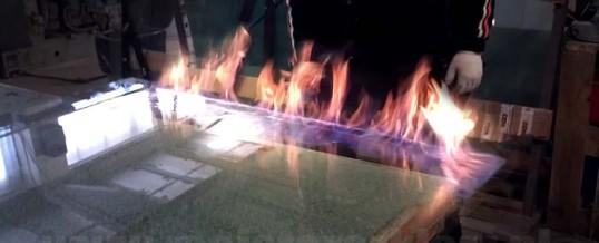 Płonące szkło