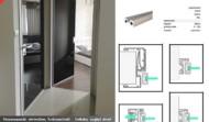 Drzwi w ramie aluminiowej
