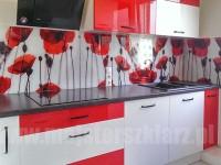 Duży wybór wzorów i motywów graficznych - fotograficzne nadruki na szkle, czerwone maki