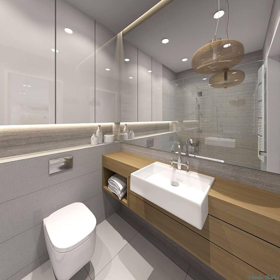 Duże Lustro W Stylowej łazience