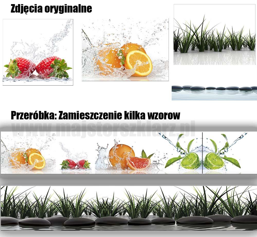 Przycinanie, kadrowanie, zwiększanie zmniejszanie kontrastu kolorów, powielanie, wyostrzanie itp grafik na panel szklany
