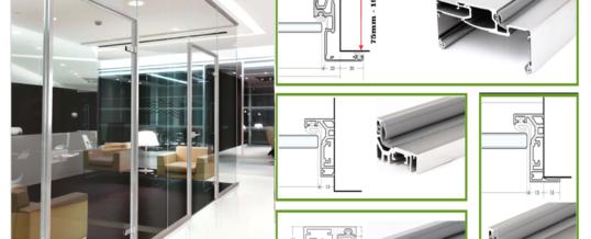Ościeżnice aluminiowe w zabudowie szklanej