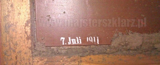 Wymiana lustra z 1911r.! w starej ramie
