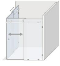 System przesuwny do kabin prysznicowych i nie tylko